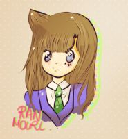 Ran Mouri {doodle} by CunningScarecrow