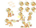 Applejack Rough Study by Reikomuffin