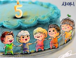 Happy 5th Anniversary SHINee! by Artsanpuc101