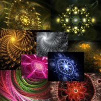Fractal Magic Set 1(WALLPAPERS) by BABI40