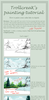 How to paint a lake tutorial by TrollcreaK