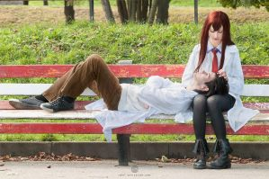 Rintaro Okabe and Kurisu Makise by ukrainian-panda