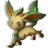Leafeon by Naoki-Wolf