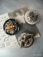 Bee fridge magnets by janedean