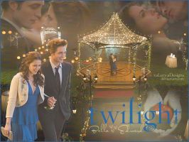 Bella and Edward Wallpaper by vaLeryaDesigns