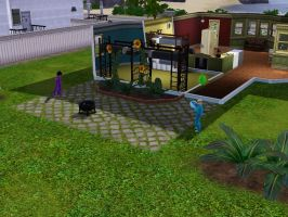 Sims 3 - Violet and Annasophia are playing ball by Magic-Kristina-KW