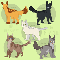 Warriorcats: NW Animation Ref sheet by Nharlie