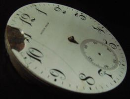 Antique watch face side by Designdivala