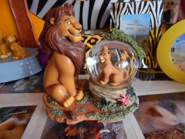 Lion King Simba And Mufasa Globe by OliveTree2