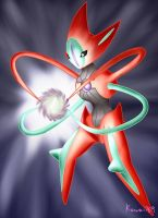 Pokemon - Deoxys Attack Form by kawaii769