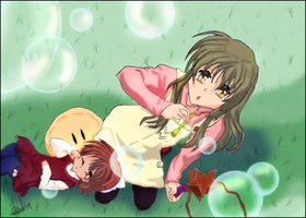 Ushio and Fuko -  Clannad After Story by Recorr