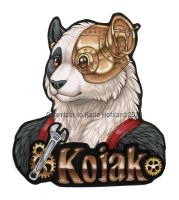 Kojak Bust Badge by KatieHofgard