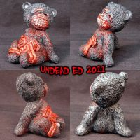 Zombie Guts Bear OOAK by Undead-Art