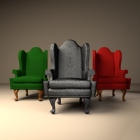 RR Queen Anne Wing Chairs by SavannaW