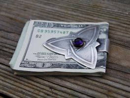 Celtic Amethyst Money Clip by DreamingDragonDesign