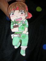 Rebecca Chambers paper doll by Luckyoctopus