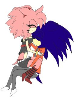 Amy and Sonic: ~Sleeping by Julchen-san