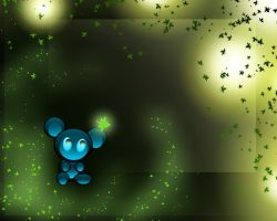 blue bear by vegi92