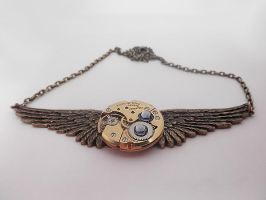 Steampunk Brass Necklace by SteamDesigns
