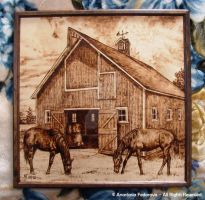 Woodburning - Horses by AnastasiasArts