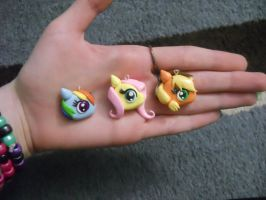 My Little Pony Polymer Clay Charms by ResurrectedVampire69
