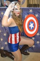 Star and Stripes (Lady Captain America Cosplay) by GlowingSnow