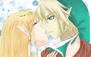 Goddess Hylia can kiss too by OwlLisa
