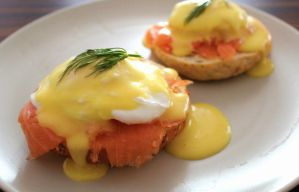 Eggs Benedict with smoked salmon and dill by MerenwenTheBeautiful