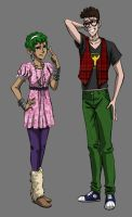 Me and my bff as anime characters by iesnoth