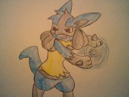 Luca the Lucario by Star-Swirls