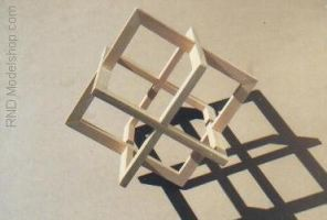 Cube of 3 Wood Squares by RNDmodels