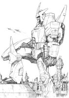 Galvatron Sketch by channandeller