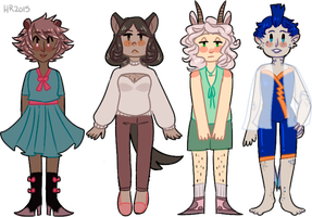 more anthro adoptables pt 2 (CLOSED) by m5w