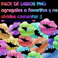 Pack de labios png by C-G-C-B-L-Desings