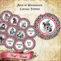 Alice in Wonderland Cupcake Toppers by NerdTrends