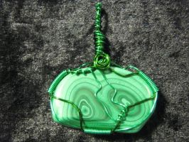 Malachite Gemstone Pendant by ItsAWrap