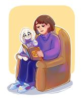 Frisk and Toriel (Undertale, age-swap) by Yodeki