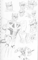 Animated Optimus sketch study by MSipher