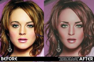 Lindsay Before and After by MorePoison