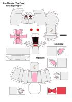 five nights at freddy's 2 pre-mangle papercraft P1 by Adogopaper