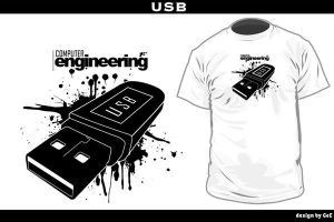 ::BS CpE Tee Design: USB:: by putingpangil