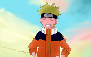 naruto's smile.: colored. by sugarbearkitty