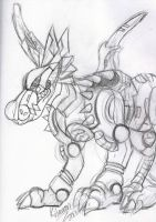 MetalGarurumon sketch by Kitamon
