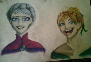 [WIP] Anna and Elsa by SpicePrincess