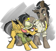 Doctor Capaleron and Daring Do by CleppyClep