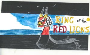 Water color: King of the red lions by Gruvu