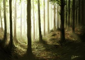 Forest speedpainting by Kubeen