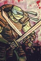 TMNT Leonardo Sketch Card by SpencerPlatt