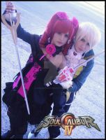 Amy and Raphael Sorel - Soul Calibur IV by LauraNikoPhantomhive