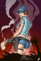 Ebas S Jill Valentine Con Sketch   Inks By Sta by Electric-Eccentric